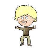 Niño feliz de dibujos animados riendo — Vector de stock
