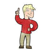Cartoon man with great idea — Stock Vector