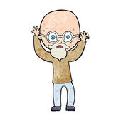 Cartoon stressed bald man — Stock vektor