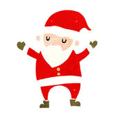Cartoon dancing santa — Stock Vector