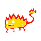 Cartoon little fire demon — Stock Vector