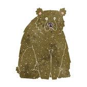 Cartoon funny bear — Wektor stockowy