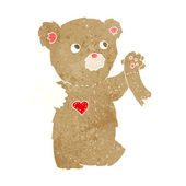 Cartoon-teddybär mit zerrissenen arm — Stockvektor