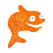 Cartoon happy fish — Stock Vector