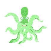 Cartoon giant octopus — Vecteur