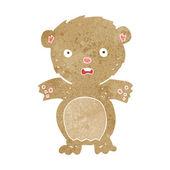 Frightened teddy bear cartoon — Stock Vector