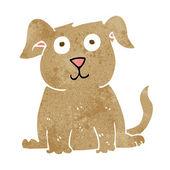 Cartoon happy dog — Stock Vector