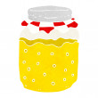 Cartoon honey jar — Stock Vector #41156127