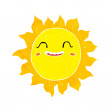 Cartoon happy sun — Stock Vector #41156225