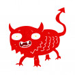 Stock Vector: Cartoon little demon