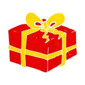 Cartoon christmas present — Stock Vector