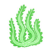 Cartoon seaweed — Stockvektor