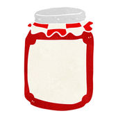 Cartoon jar of preserve — Stock Vector