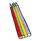 Cartoon colored pencils — 图库矢量图片