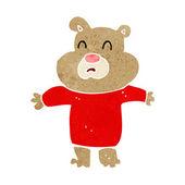 Cartoon unhappy bear  — Stock Vector
