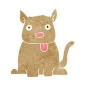 Cartoon dog sticking out tongue — Stock Vector
