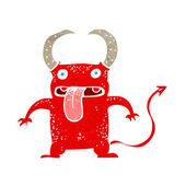 Cartoon little devil — Stock Vector