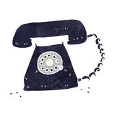 Cartoon retro telephone — Vetorial Stock