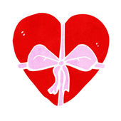 Cartoon heart shaped present — Vettoriale Stock