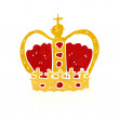 Cartoon royal crown — Stock Vector