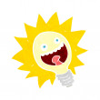 Stock Vector: Cartoon lightbulb