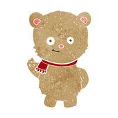 Cartoon bear waving — Stock Vector