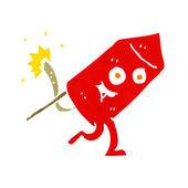 Cartoon funny firework character — Stock Vector