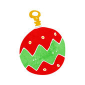 Cartoon christmas bauble — Stock Vector