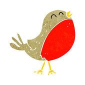 Cartoon christmas robin — Stock Vector