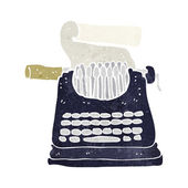 Cartoon typewriter — 图库矢量图片