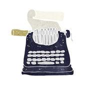 Cartoon typewriter — Stock Vector