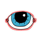 Cartoon staring eye — Stockvektor