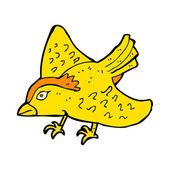 Cartoon garden bird — Stock Vector