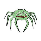 Cartone animato ragno di halloween — Vettoriale Stock