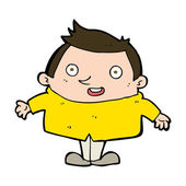 Uomo felice dei cartoni animati — Vettoriale Stock