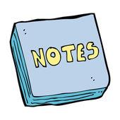 Cartoon notes pad — Stock Vector