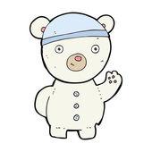Cartoon polar bear cub — Stock Vector
