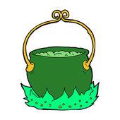 卡通巫婆的大锅里 — 图库矢量图片