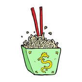 Cartoon noodles in box — Stock Vector