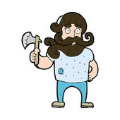 卡通伐木工人用斧子 — 图库矢量图片