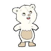 Cartoon polar bear — Stockvector