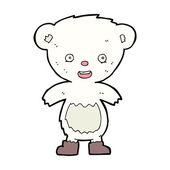 Cachorro de oso polar de la historieta — Vector de stock