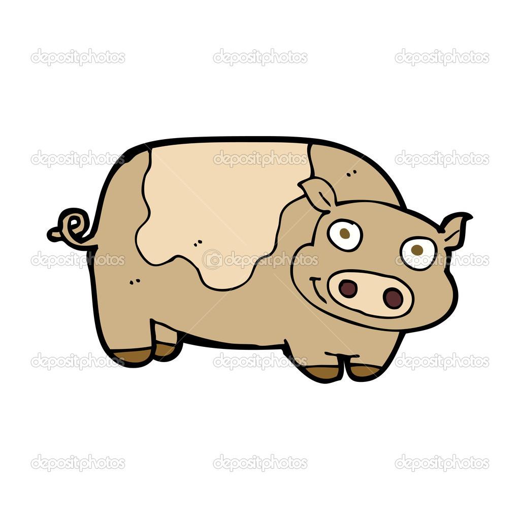 卡通猪 — 图库矢量图像08 lineartestpilot