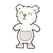 Cartone animato teddy orso polare — Vettoriale Stock