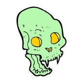 Cartoon spooky vampire skull — Stockvector