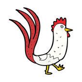 Cartoon cockerel — Stock Vector