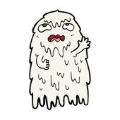 Gross cartoon ghost — Stock Vector