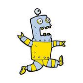Cartoon terrified robot — Stock Vector