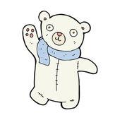 Cute cartoon polar teddy bear — Stock Vector