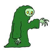 Cartoon spooky halloween costume — Stockvector